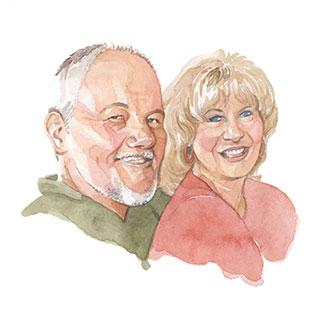 Portrait of Dan & Julie