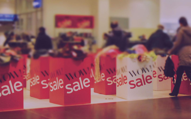 Shopping mall sale