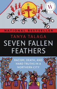 Book cover of Seven Fallen Feathers by Tanya Talaga.