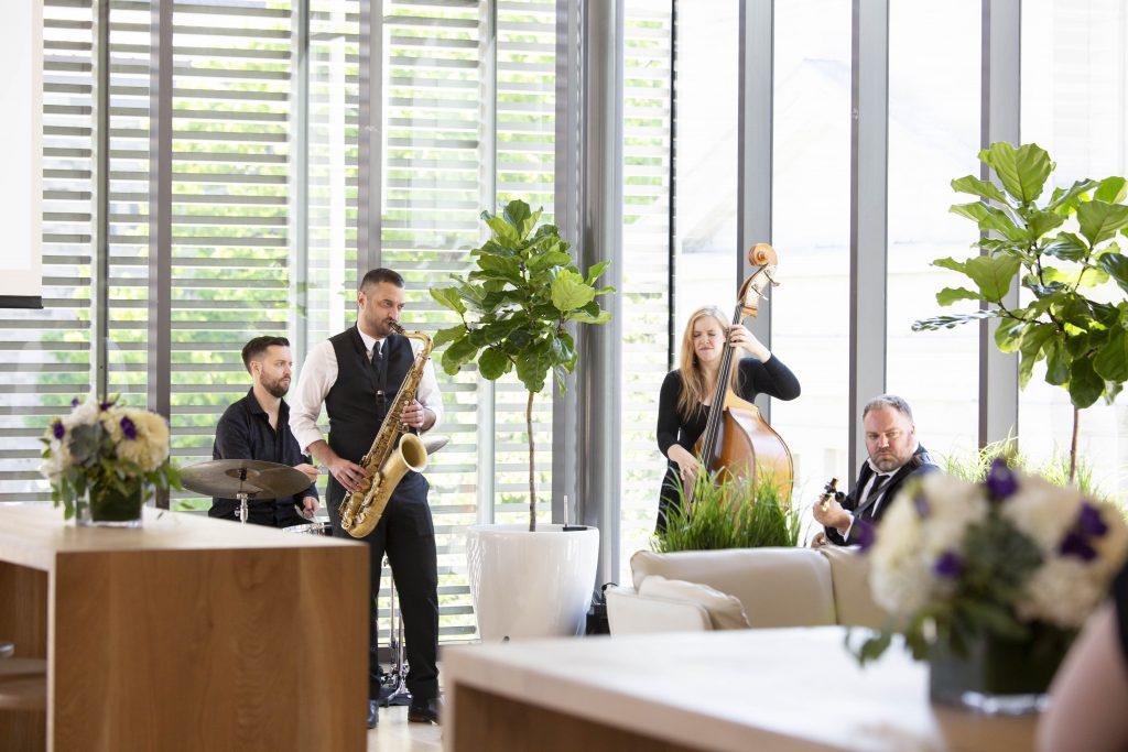 Musicians of the event, a 4-piece ensemble