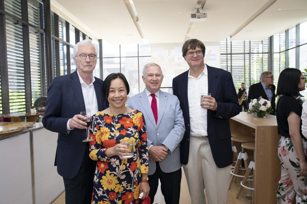 From left to right: Peter Pauly, Jeanne Li, Jim Milway, and William Strange