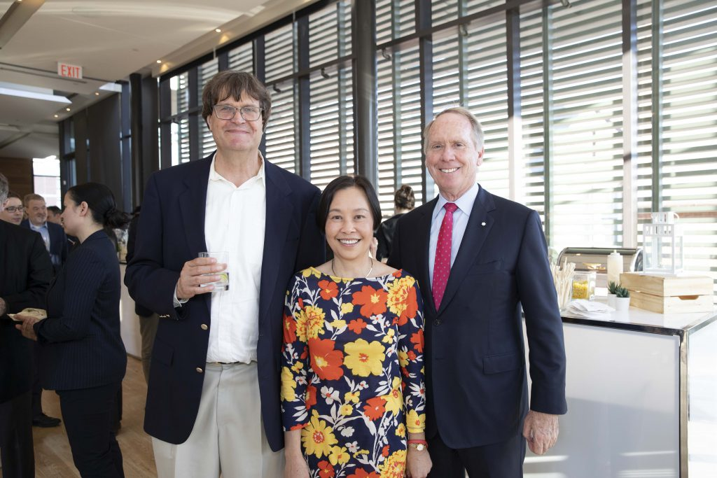 From left to right: William Strange, Jeanne Li, and William Downe